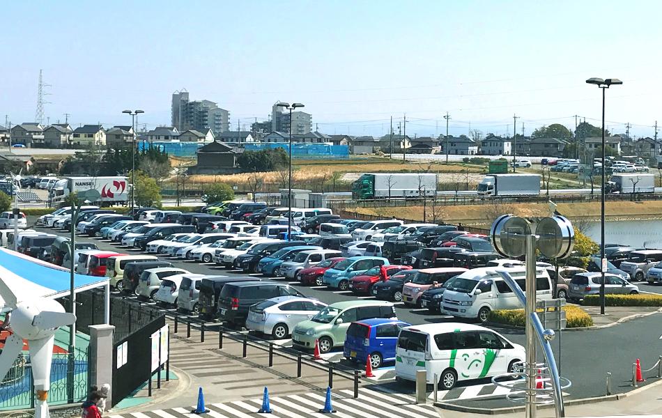 一般道からの駐車場案内